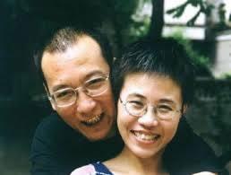 Foto af Liu Xia og Liu Xiaobao