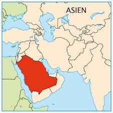 saudi-arabien landkort2